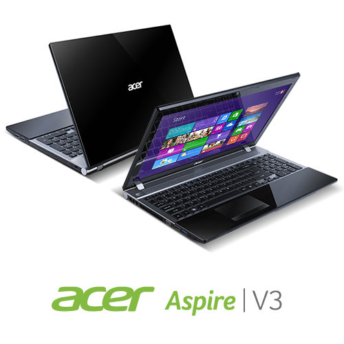 B00B7JE6FS image 1 Acer Aspire V3 571G 9683 15.6 Inch Laptop (Midnight Black)