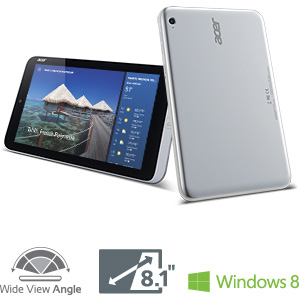 B00CM1BN5G image Ay Acer Iconia W3 810 1600 8.1 Inch 32 GB Tablet (Silver)
