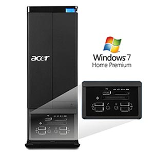 Acer Aspire AX3910 front ports