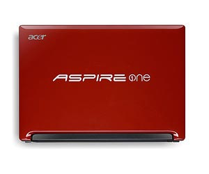 Aspire One D255 in ruby red