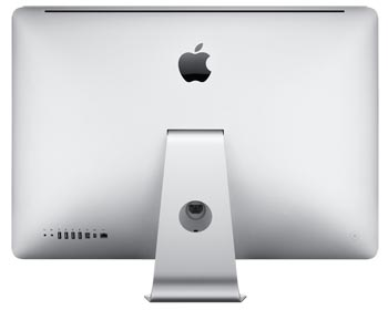Rear of the 27-inch Apple iMac