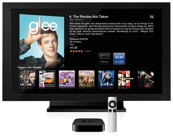 Apple TV with HDTV
