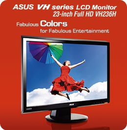 VH236H - Versatile Widescreen LCD monitor for Instant Multimedia Enjoyment