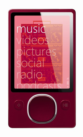 Zune 80 GB Digital Media Player, Red (2nd Generation)