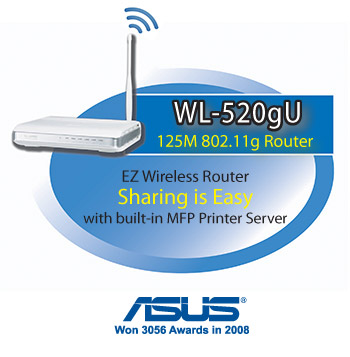 ASUS WL-520gU Wireless 802.11g Router