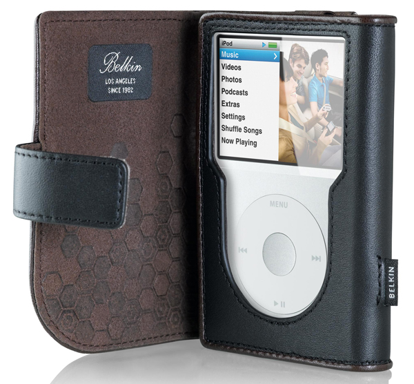 Ipod Classic Case Leather. while in the case.