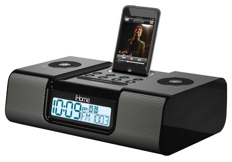 ihome ih9 alarm clock speaker system with. Black Bedroom Furniture Sets. Home Design Ideas