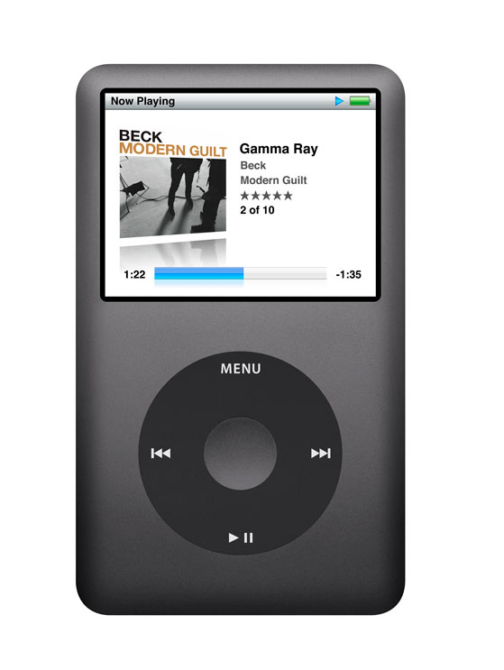 ipod classic black. With the new iPod classic,