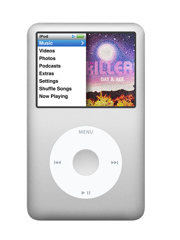 apple ipod classic 160 gb silver 7th. Black Bedroom Furniture Sets. Home Design Ideas