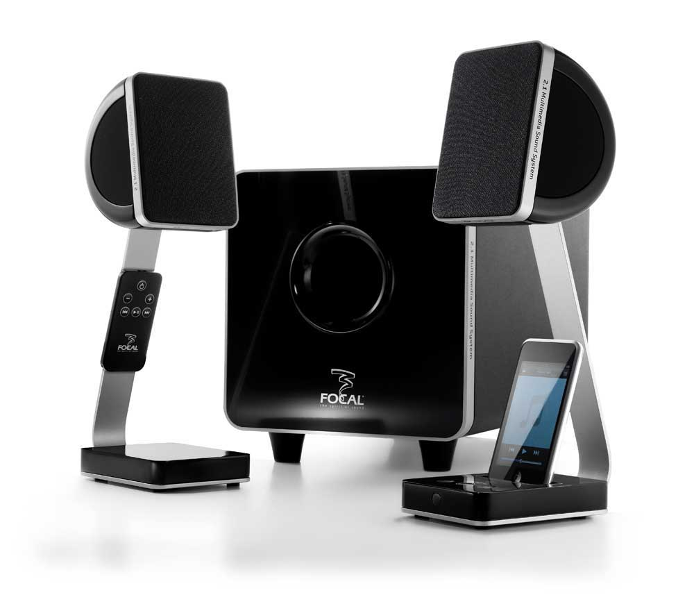 Amazon com Focal XS Satellite Speakers with Dock for iPod and MP3