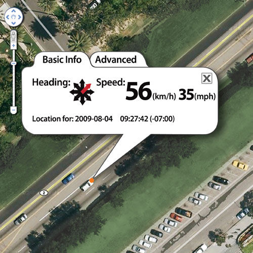 Real-time GPS tracking tells you where your vehicle is located at