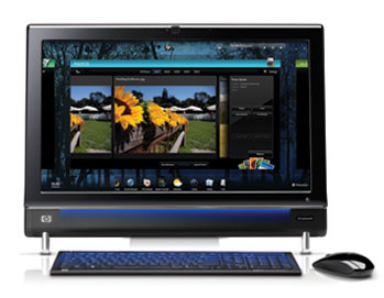 HP TouchSmart 600-1055 Front View