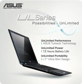 B002XZLURC black main ASUS UL30VT X1K: ASUS UL30Vt X1 Thin and Light 13.3 Inch Black Laptop (11 Hours of Battery Life)