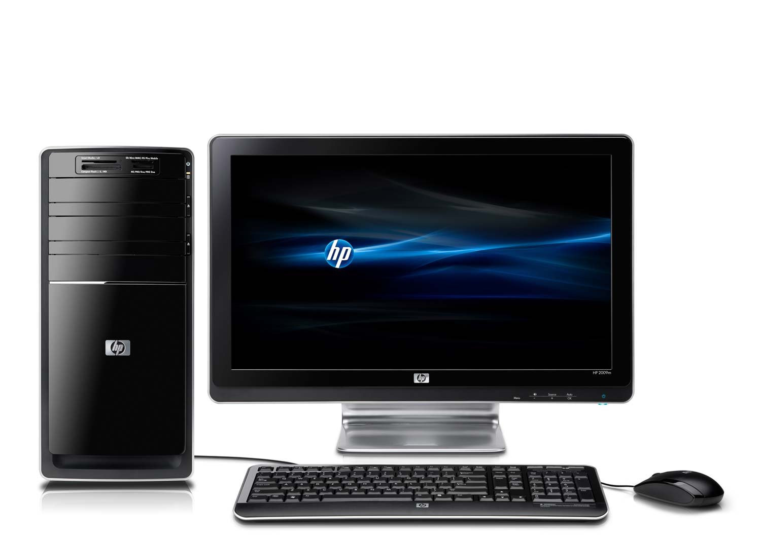 hp pavilion p6320f pc front view. Black Bedroom Furniture Sets. Home Design Ideas