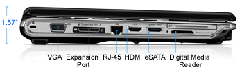 HP Pavilion dv4-2161nr Laptop PC Left Side