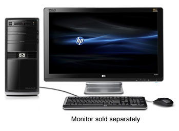 HP Pavilion Elite HPE-230f PC Front View