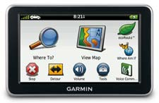Garmin nuvi 2460LMT display