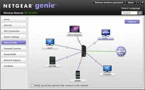 Netgear Genie Network Map
