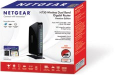 Netgear N750 Wireless Dual Band Gigabit Router - Premium Edition