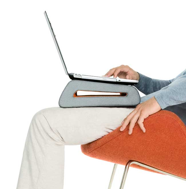 The CushTop provides increased padded comfort when you use your laptop