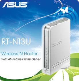 ASUS RT-N13U Multifunction Wireless 802.11n Router