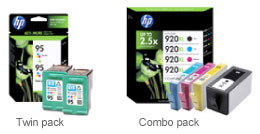 Twin pack of HP ink &amp; Combo pack of HP ink
