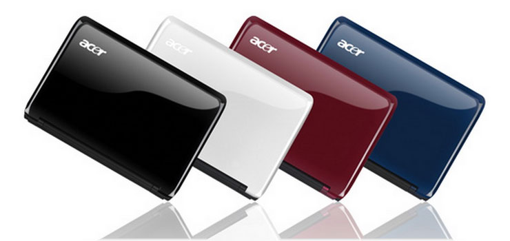 The colorful Aspire One AO751h collection.