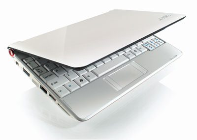 Acer Aspire One 8.9-inch Netbook (1.6 GHz Intel Atom N270 Processor, 1 GB RAM, 160 GB Hard Drive, XP Home, 6 Cell Battery)