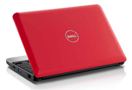 The Dell Mini 10v in red