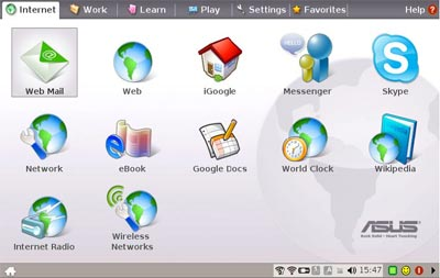 ASUS Netbook Interface