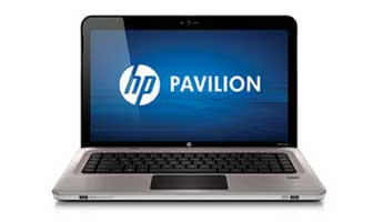 HP Pavilion dv6-3250us Entertainment Notebook PC Front View