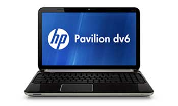 HP Pavilion dv6-6110us Notebook PC Front View