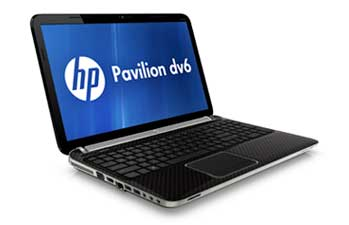 HP Pavilion dv6-6110us Notebook PC Front Left View
