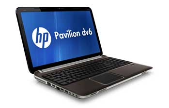 HP Pavilion dv6-6169us Entertainment Notebook PC Left View