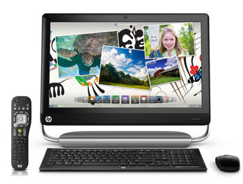 HP TouchSmart 520-1050 PC Front View