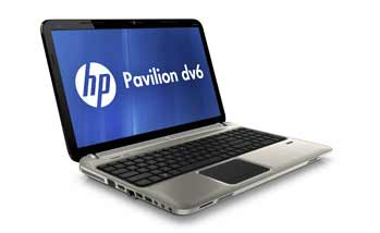 HP Pavilion dv6-6c10us Entertainment Notebook PC Left View