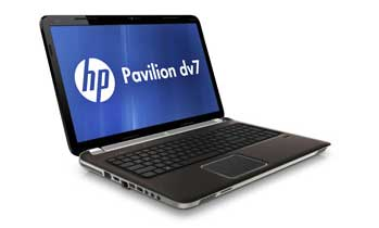HP Pavilion dv7-6c90us Entertainment Notebook PC Left View