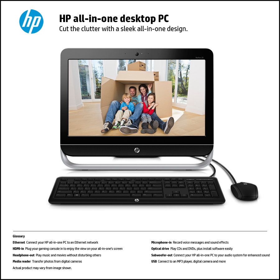 hp pavilion 20 b309 20 inch all in one desktop e1 2500. Black Bedroom Furniture Sets. Home Design Ideas