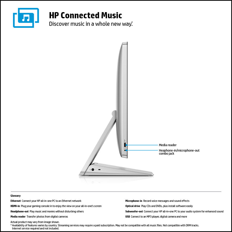 HP Envy Recline 23-k010 23-Inch All-In-One Touchscreen Desktop with