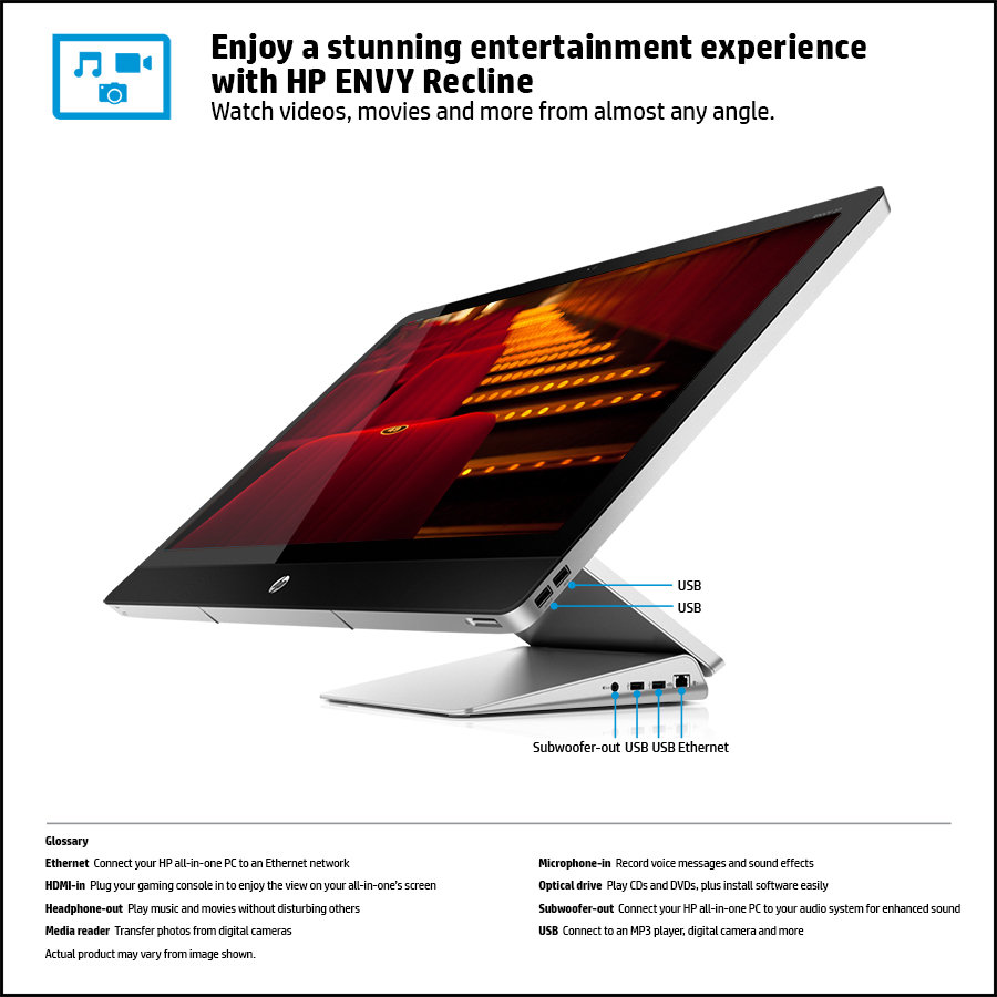HP ENVY Recline TouchSmart 27-k010ee All in One PC (Black ...