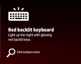 Red backlit keyboard