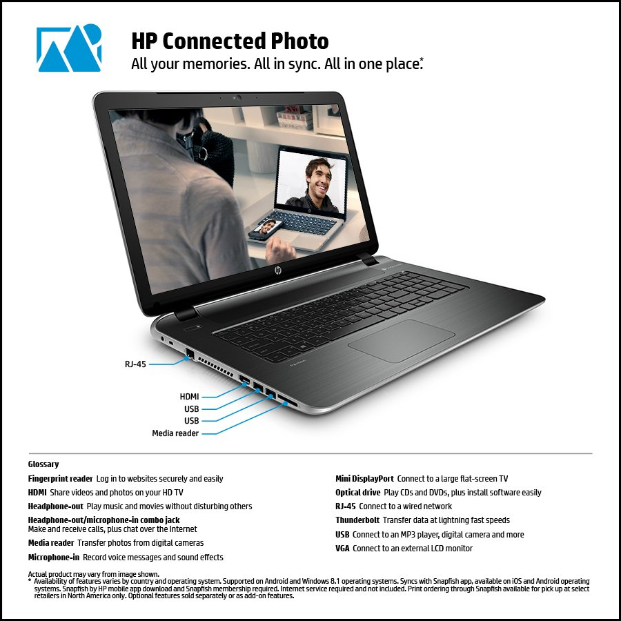 HP 17-f010us 17.3-Inch Laptop with Beats Audio (Natural Silver)