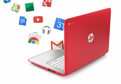 chromebk apps red HP Chromebook 14 (Peach Coral)