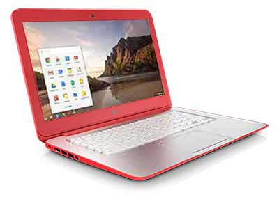 chromebk store red HP Chromebook 14 (Peach Coral)