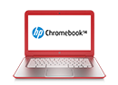 chromebk14 red HP Chromebook 14 (Peach Coral)