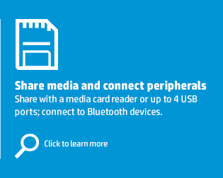 Share media and connect peripherals