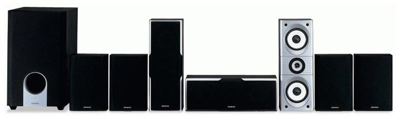 onkyo sks ht540 7 1 channel home theater speaker system theahome89. Black Bedroom Furniture Sets. Home Design Ideas