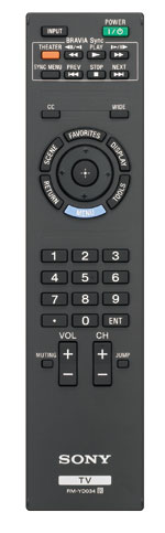 BRAVIA EX500 Series HDTV remote