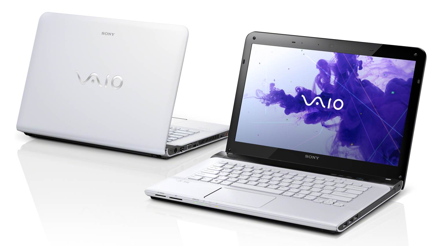 The VAIO VPCEA490X laptop front view