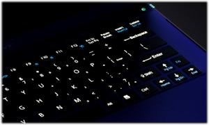 VAIO Z backlit keyboard